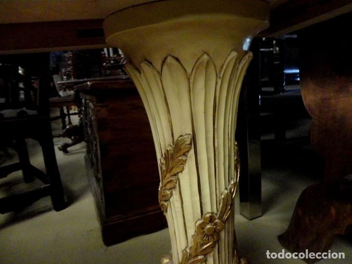 Antigüedades: Consola Vintage madera tallada y policromada - Foto 8 - 155764470
