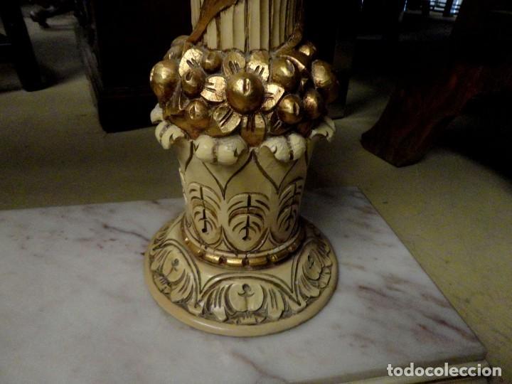Antigüedades: Consola Vintage madera tallada y policromada - Foto 10 - 155764470