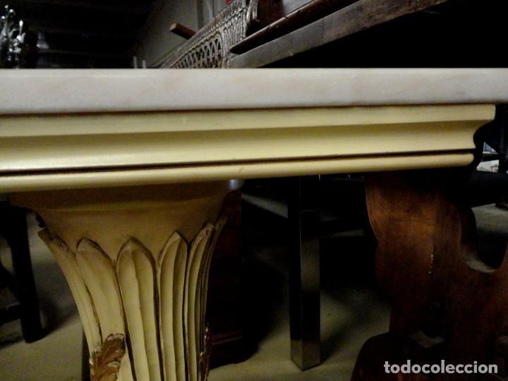 Antigüedades: Consola Vintage madera tallada y policromada - Foto 11 - 155764470