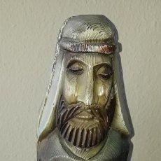 Antigüedades: FIGURA BOTELLERO MADERA.. Lote 244552815