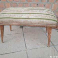 Antigüedades: ANTIGUO MUEBLE DE PIE DE CAMA , LARGO 1 M. Lote 244568485
