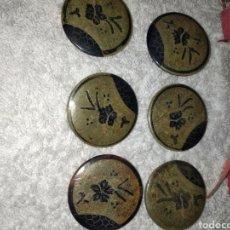 Antigüedades: BOTONES ANTIGUOS Y GRANDES REPUJADOS. Lote 244598070