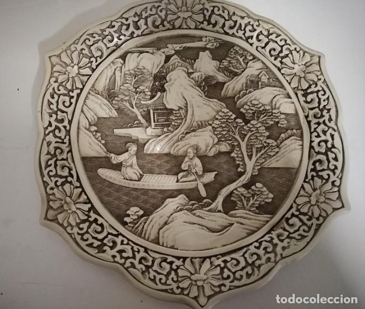 PLATO JAPONÉS ANTIGUO (Antigüedades - Hogar y Decoración - Platos Antiguos)