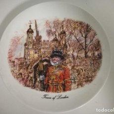 Antigüedades: PLATO DECORATIVO TORRE DE LONDRES. Lote 244604615