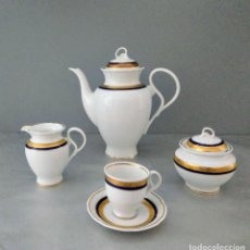 Antigüedades: JUEGO CAFE WEGA DE 12 SERVICIOS DE PORCELANA ALEMANA- ARTICULO NUEVO. Lote 244605345