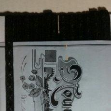 Antigüedades: CINTA DE PASAMANERIA FINALES DEL SIGLO XIX FRANCESA SIN USO. Lote 244613575
