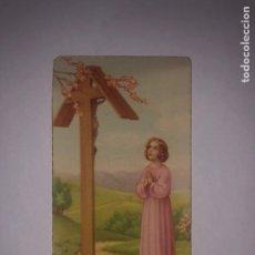 Antigüedades: ESTAMPA RELIGIÓN RECUERDO COMUNIÓN 1946 BARCELONA. Lote 244625645