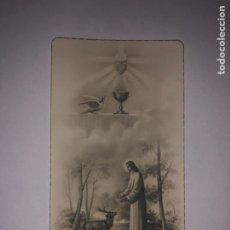 Antigüedades: ESTAMPA RELIGIÓN RECUERDO COMUNIÓN 1945 BARCELONA. Lote 244625750