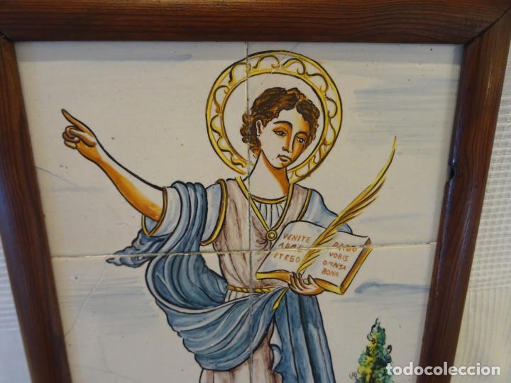 Antigüedades: Mide 50 cmts. Panel azulejos San Pancracio Martir. Jose Manuel Tos. Denia - Foto 2 - 244672730