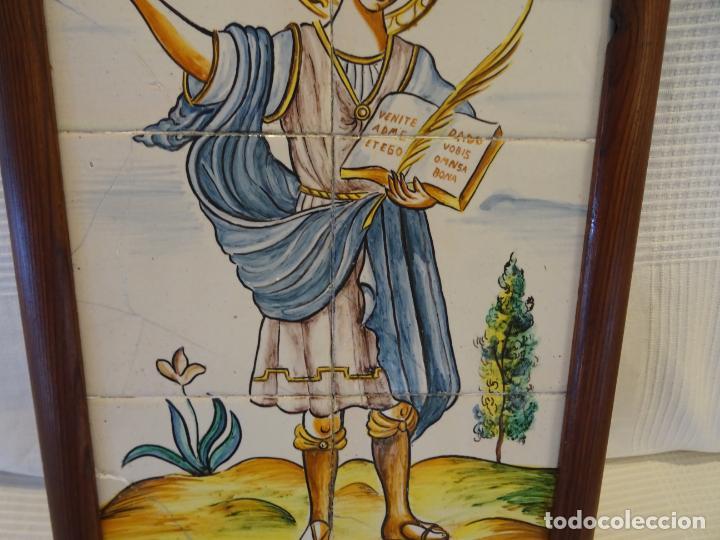 Antigüedades: Mide 50 cmts. Panel azulejos San Pancracio Martir. Jose Manuel Tos. Denia - Foto 3 - 244672730