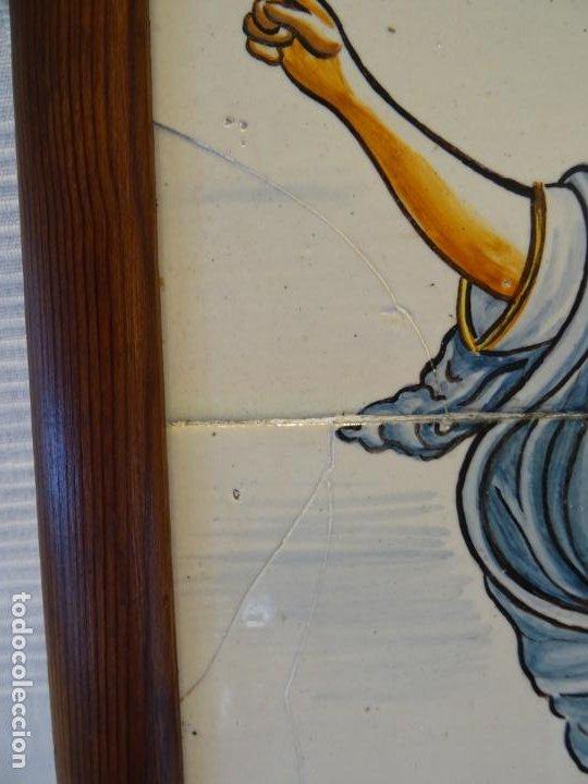 Antigüedades: Mide 50 cmts. Panel azulejos San Pancracio Martir. Jose Manuel Tos. Denia - Foto 6 - 244672730