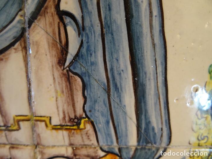 Antigüedades: Mide 50 cmts. Panel azulejos San Pancracio Martir. Jose Manuel Tos. Denia - Foto 8 - 244672730