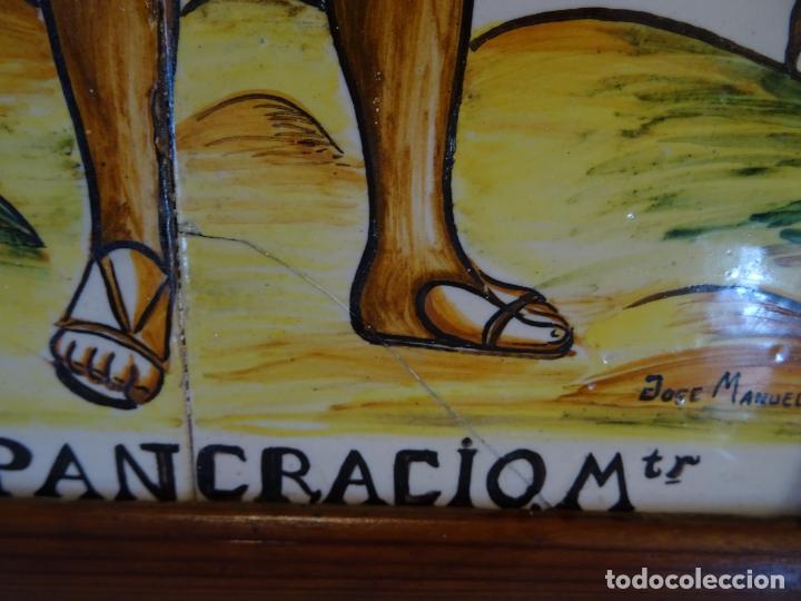 Antigüedades: Mide 50 cmts. Panel azulejos San Pancracio Martir. Jose Manuel Tos. Denia - Foto 10 - 244672730