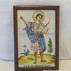 Antigüedades: PANEL AZULEJOS SAN PANCRACIO MARTIR. JOSE MANUEL TOS. DENIA. Lote 244672730