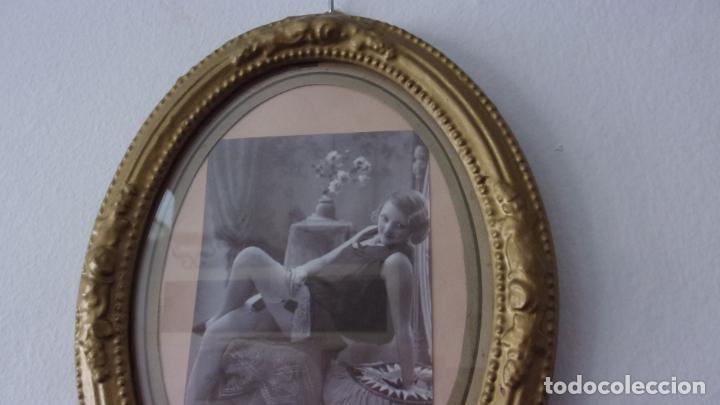 Antigüedades: marco de madera ,años 20,cambiado la foto,hay fotos demontado - Foto 2 - 244680305