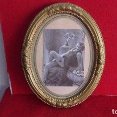 Antigüedades: MARCO DE MADERA ,AÑOS 20,CAMBIADO LA FOTO,HAY FOTOS DEMONTADO. Lote 244680305