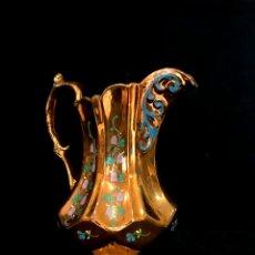 Antigüedades: ANTIGUA JARRA DE REFLEJOS (BRISTOL) 20 CM ALTURA. IMPECABLE. Lote 244693040