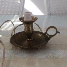 Antigüedades: VELORIO, QUINQUÉ DE METAL ELECTRIFICADO. Lote 244713170