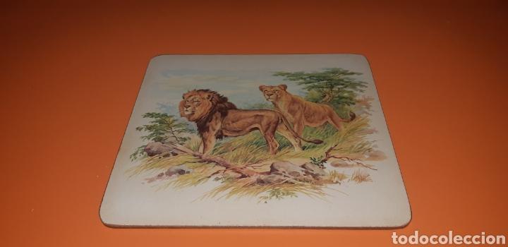 Antigüedades: 6 salvamanteles serigrafiados años 50 - Foto 4 - 244720165