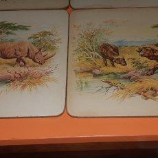 Antigüedades: 6 SALVAMANTELES SERIGRAFIADOS AÑOS 50. Lote 244720165