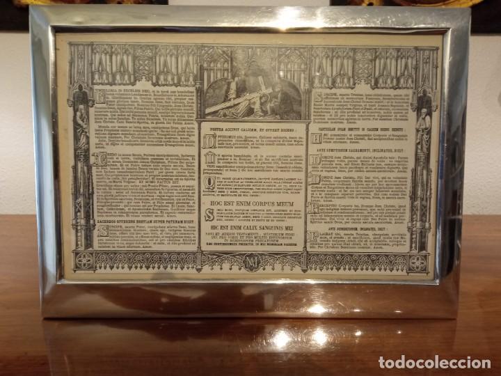 SACRA MARCO DE PLATA (Antigüedades - Religiosas - Artículos Religiosos para Liturgias Antiguas)