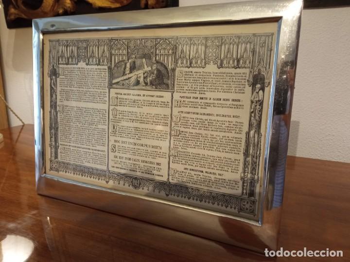 Antigüedades: Sacra marco de plata - Foto 2 - 244742885