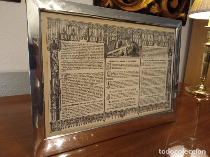 Antigüedades: Sacra marco de plata - Foto 3 - 244742885