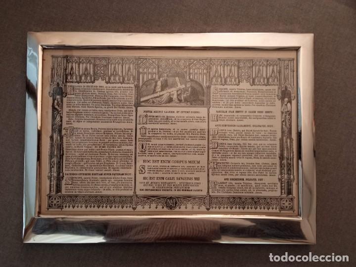 Antigüedades: Sacra marco de plata - Foto 5 - 244742885