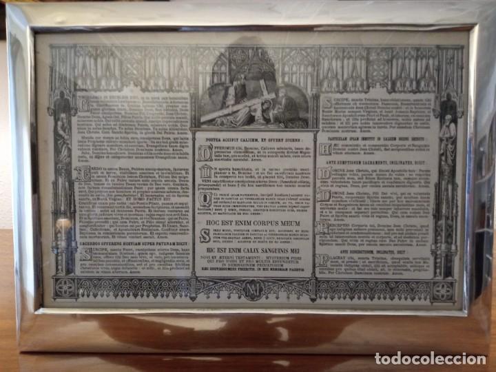 Antigüedades: Sacra marco de plata - Foto 8 - 244742885