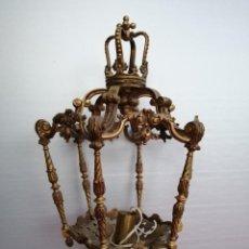Antigüedades: ANTIGUA FAROLA DE ALTAR BRONCE DORADO SIGLO XIX. Lote 244748835