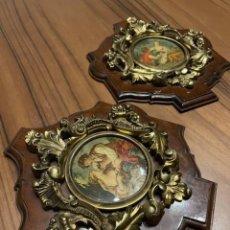 Antigüedades: CUADROS VINTAGE EN BRONCE. Lote 244751245