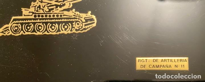 Antigüedades: Pisapapeles militar Regimiento Artillería de Campaña Nº 11 Ejército de Tierra - Foto 2 - 244758330