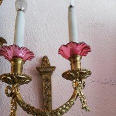Antigüedades: APLIQUES BRONCE LUIS XVI. Lote 244765490