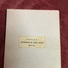 Antigüedades: REGLAS HERMANDAD SANTA MARTA 1966. Lote 244765935