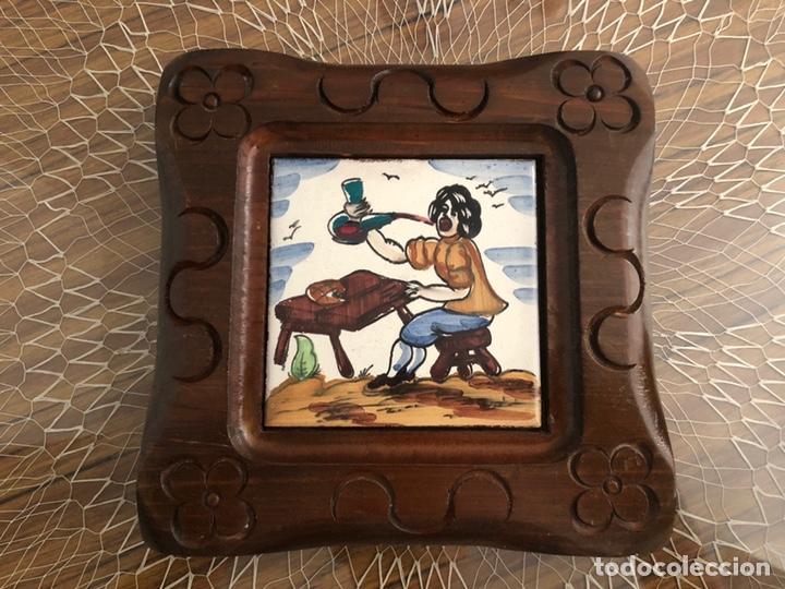 Antigüedades: Antiguos azulejos de oficios enmarcados - Foto 2 - 244807985