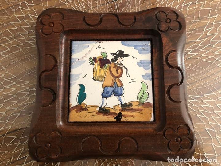 Antigüedades: Antiguos azulejos de oficios enmarcados - Foto 4 - 244807985