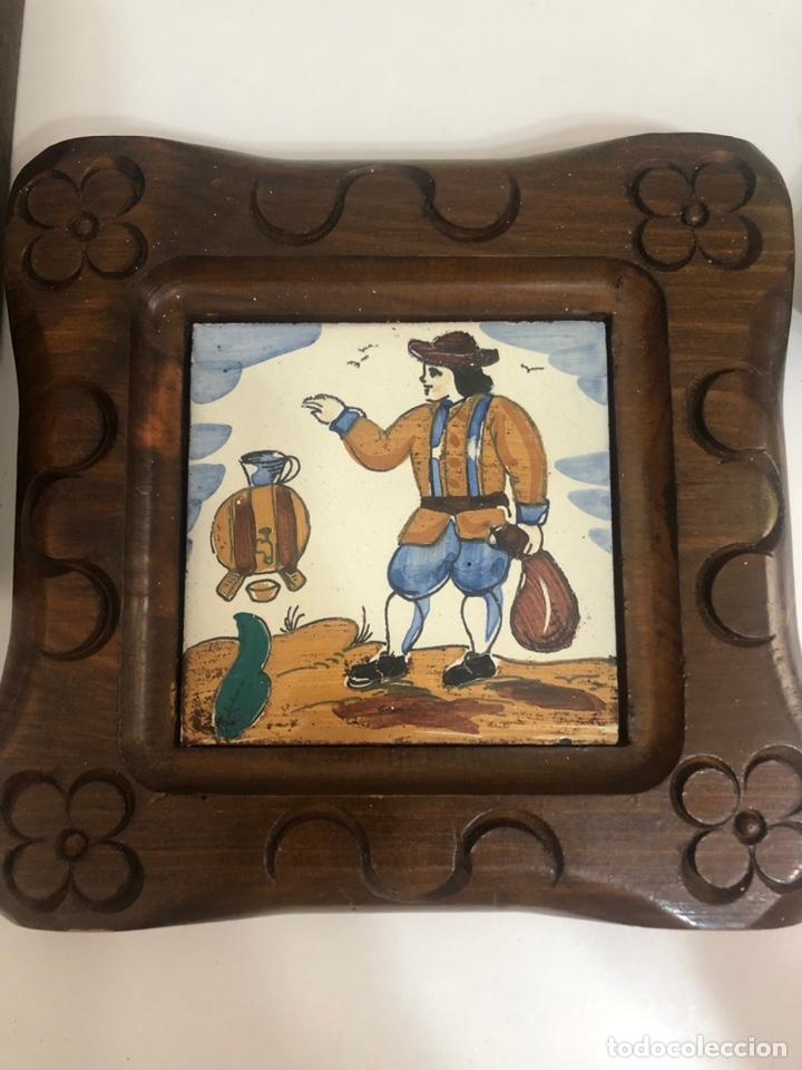 Antigüedades: Antiguos azulejos de oficios enmarcados - Foto 5 - 244807985