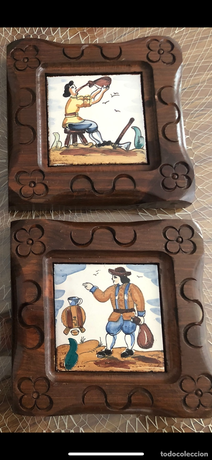 Antigüedades: Antiguos azulejos de oficios enmarcados - Foto 7 - 244807985