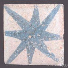 Oggetti Antichi: C351.- AZULEJO CON UNA ESTRELLA DE 8 PUNTAS.. Lote 244821890