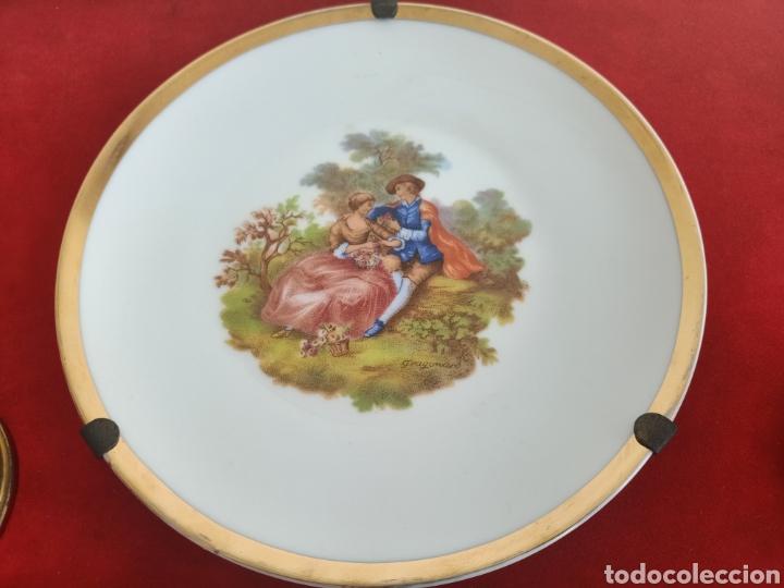 Antigüedades: Raro cuadro con plato y pomos de porcelana. Fragonard. - Foto 4 - 244853650