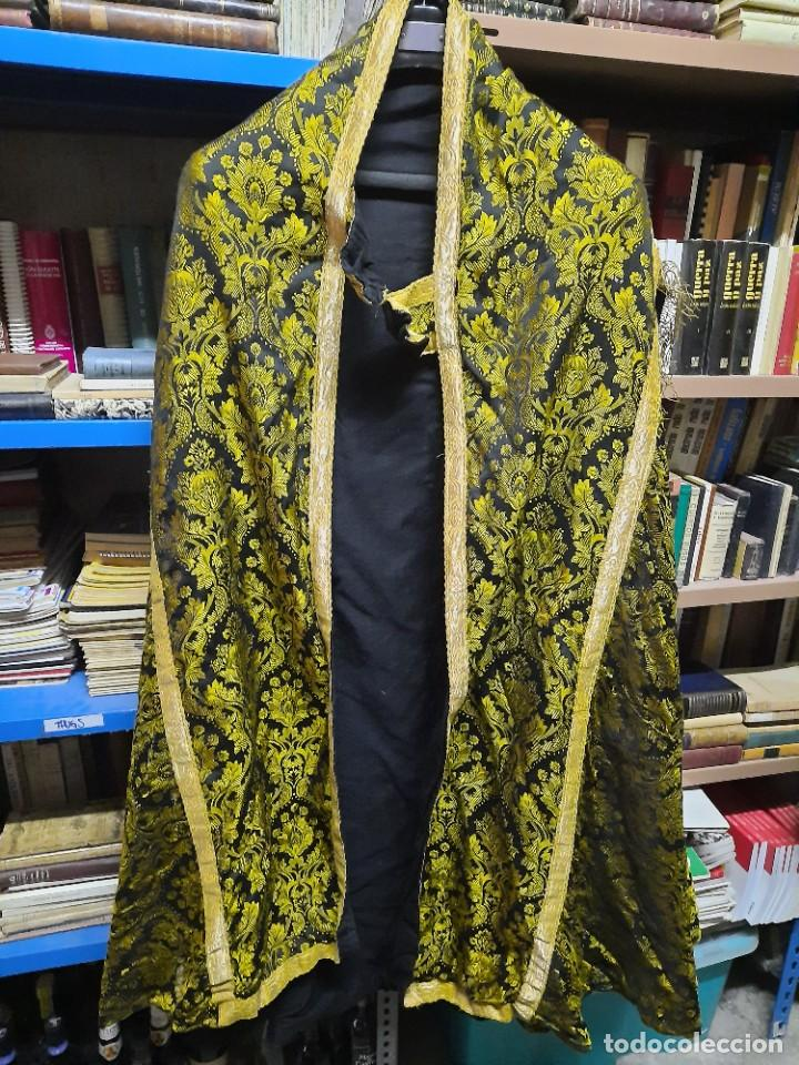 Antigüedades: Antigua capa religiosa capa pluvial - Foto 13 - 244859580