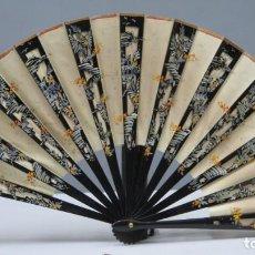 Antiguidades: ABANICO LACADO. JAPON. AÑOS 30-40. Lote 244914590