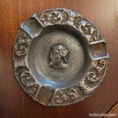 Antigüedades: CENICERO DE PLOMO ANTIGUO. Lote 244916090