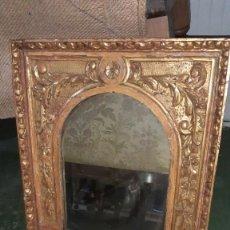 Antigüedades: ESPEJO CON MARCO DE PAN DE ORO. Lote 244950110