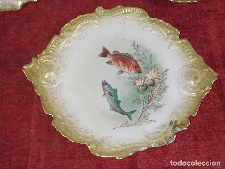 Antigüedades: VAJILLA DE 9 PIEZAS. PORCELANA ESMALTADA. FRANCIA (?). FINALES SIGLO XIX - Foto 5 - 244976810