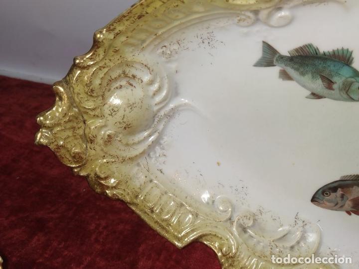 Antigüedades: VAJILLA DE 9 PIEZAS. PORCELANA ESMALTADA. FRANCIA (?). FINALES SIGLO XIX - Foto 14 - 244976810