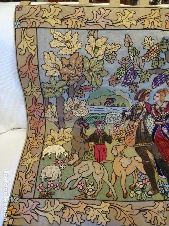Antigüedades: Precioso tapíz escena de caza - Foto 3 - 244984245