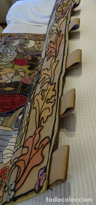 Antigüedades: Precioso tapíz escena de caza - Foto 4 - 244984245