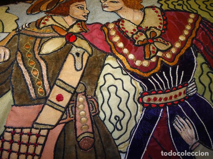 Antigüedades: Precioso tapíz escena de caza - Foto 6 - 244984245
