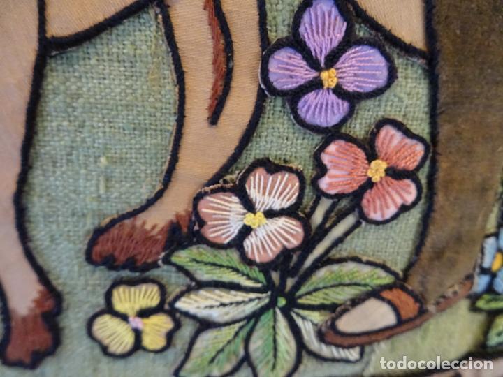 Antigüedades: Precioso tapíz escena de caza - Foto 9 - 244984245